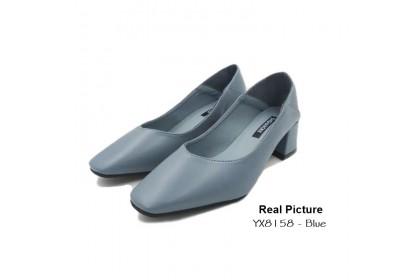 Fashionhomez 8158 Maria Square Heels ( size 35-41 ) - Plus Size