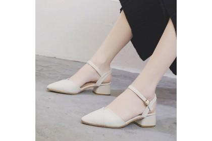 Fashionhomez 8088 Katty Pointy Strappy Mid Heel ( size 35-40 )